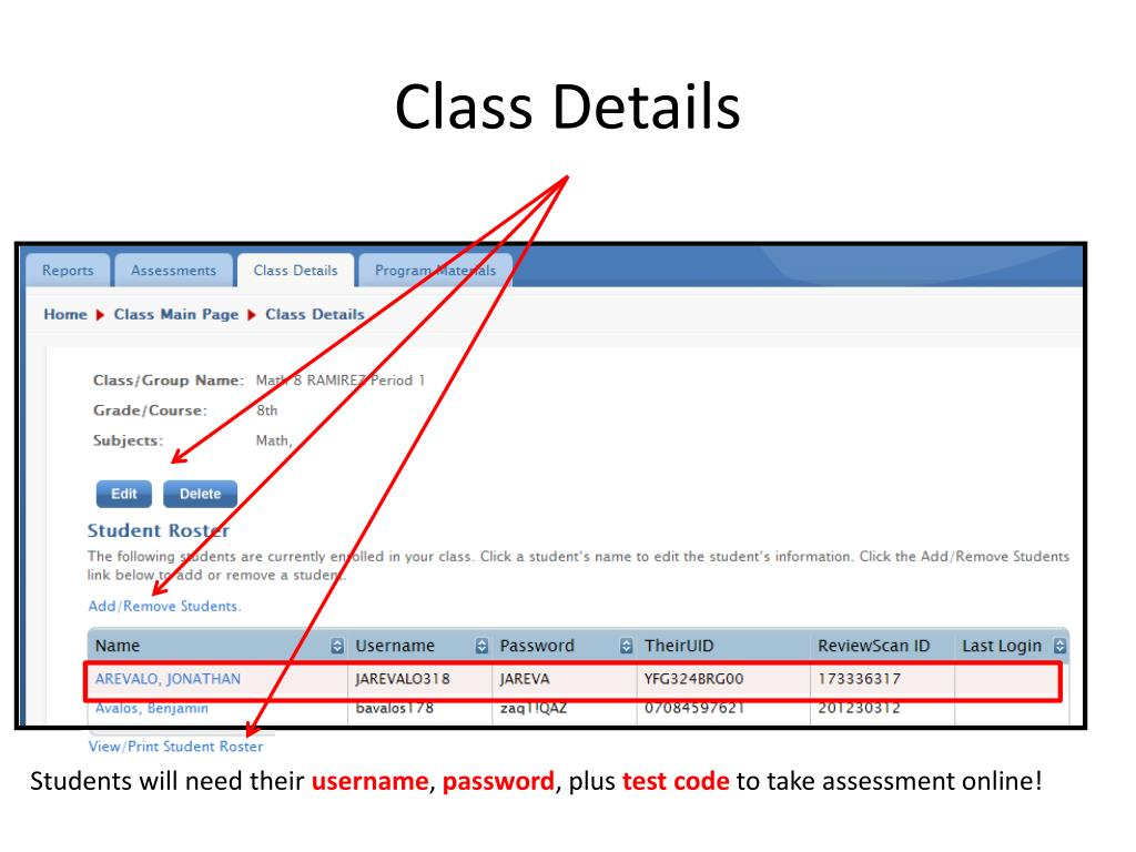Class Details