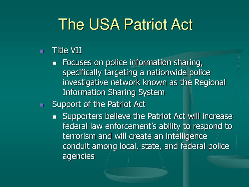 The USA Patriot Act
