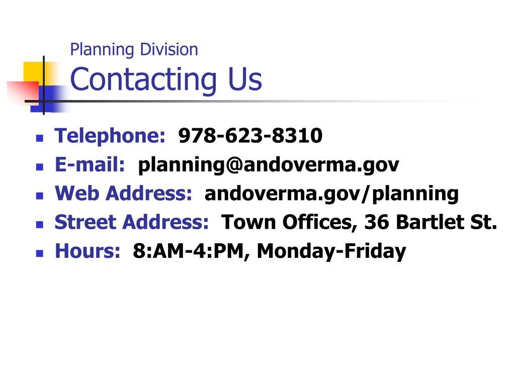 Planning Division