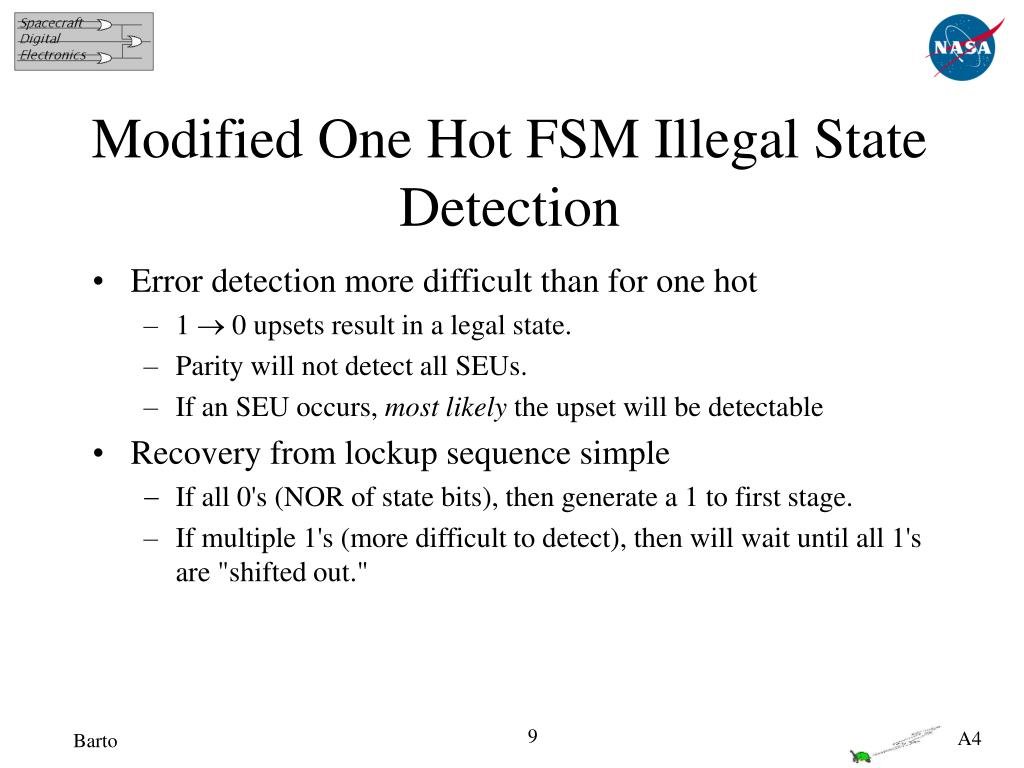 Modified One Hot FSM Illegal State Detection