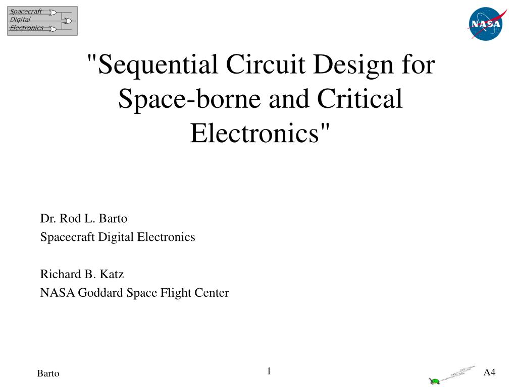"""Sequential Circuit Design for Space-borne and Critical Electronics"""