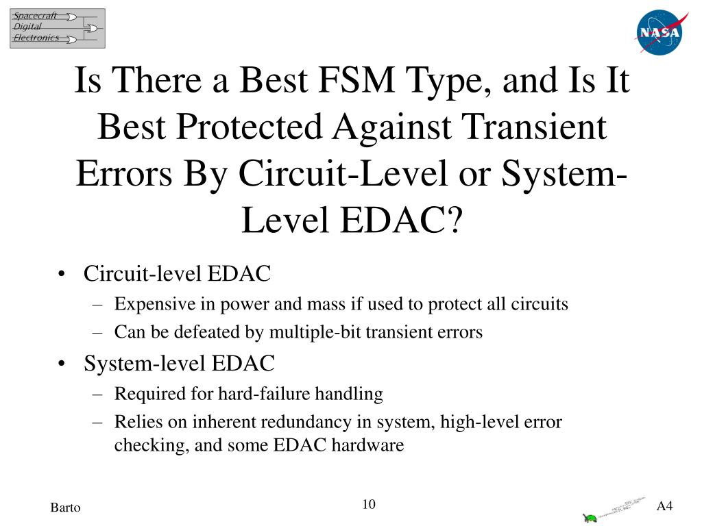 Is There a Best FSM Type, and Is It Best Protected Against Transient Errors By Circuit-Level or System-Level EDAC?