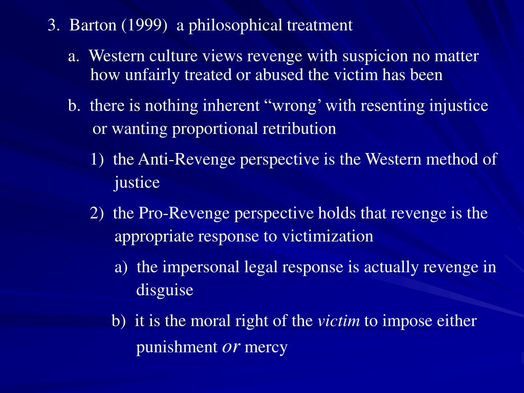 3.  Barton (1999)  a philosophical treatment