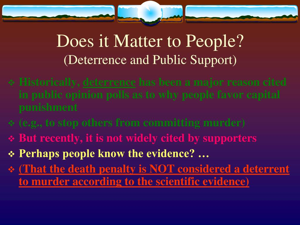 Does it Matter to People?