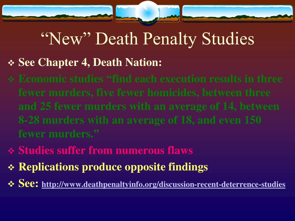 """New"" Death Penalty Studies"