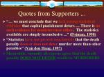 quotes from supporters