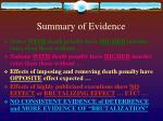 summary of evidence11