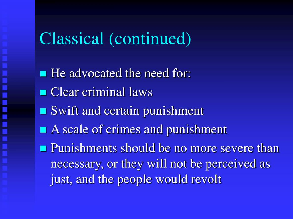 Classical (continued)