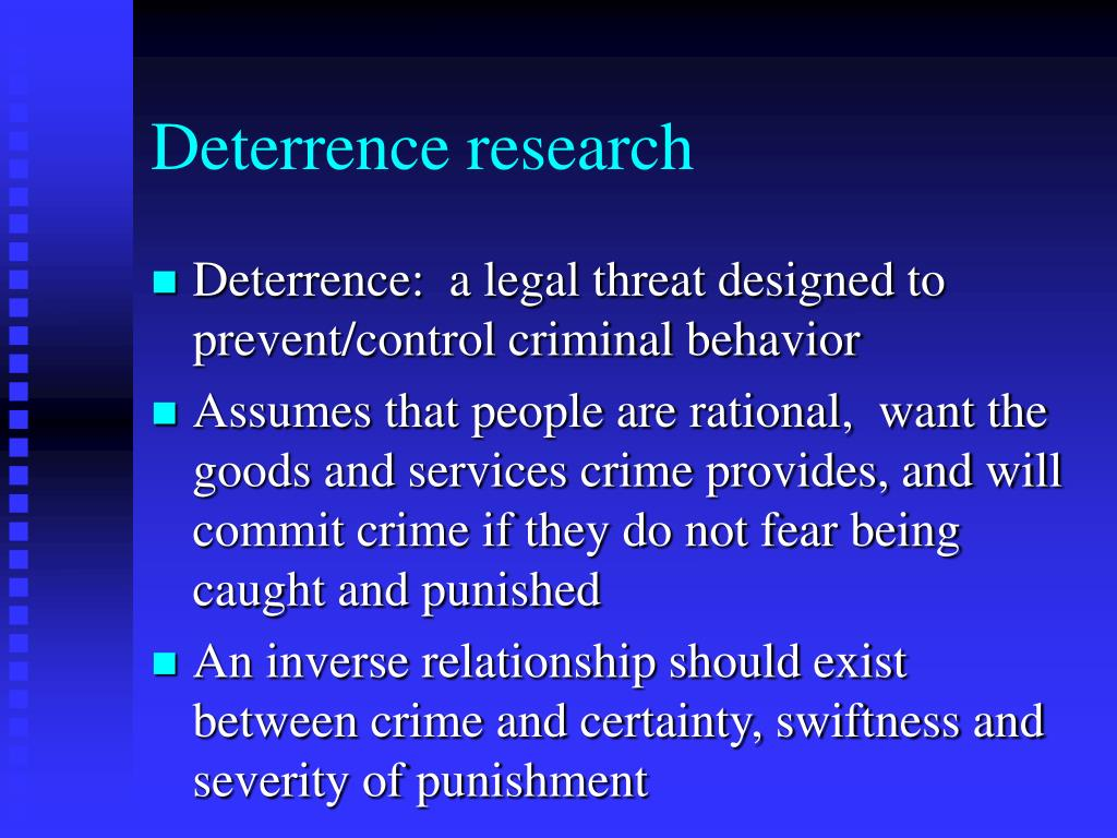 Deterrence research
