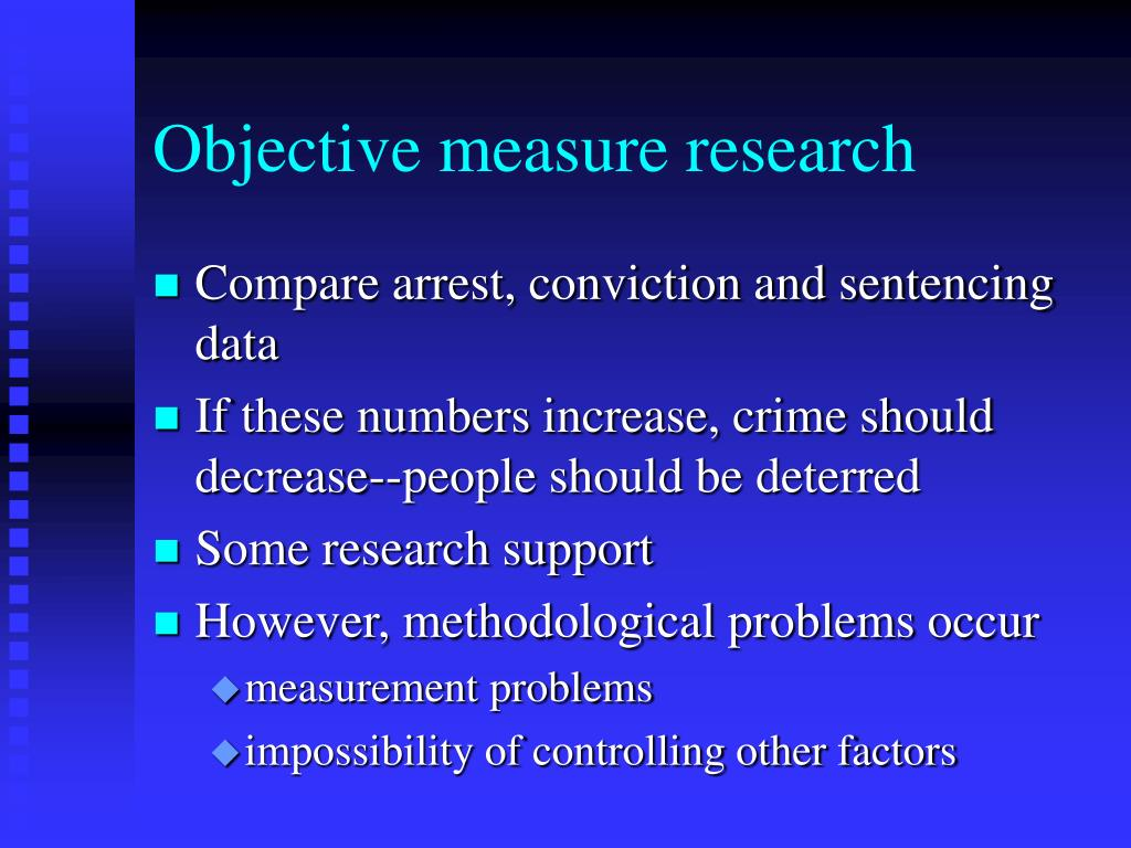 Objective measure research