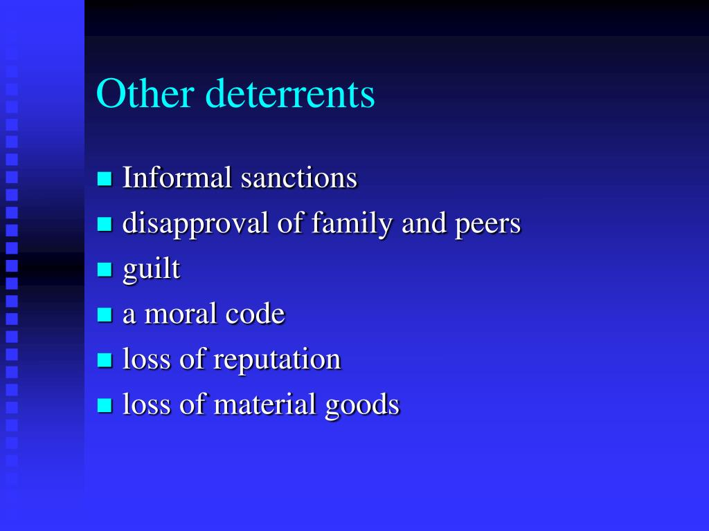 Other deterrents