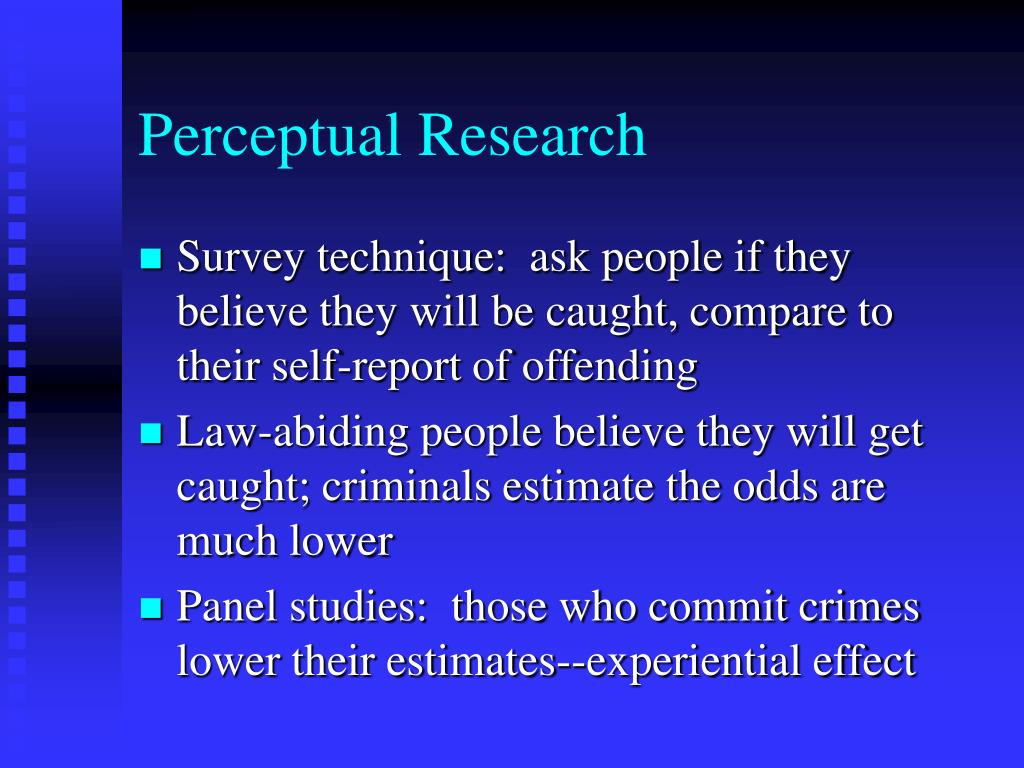 Perceptual Research