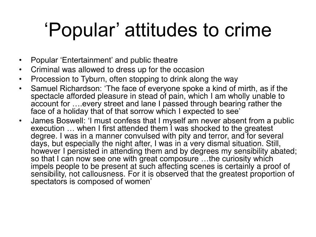 'Popular' attitudes to crime