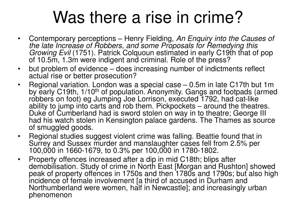 Was there a rise in crime?