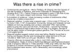 was there a rise in crime