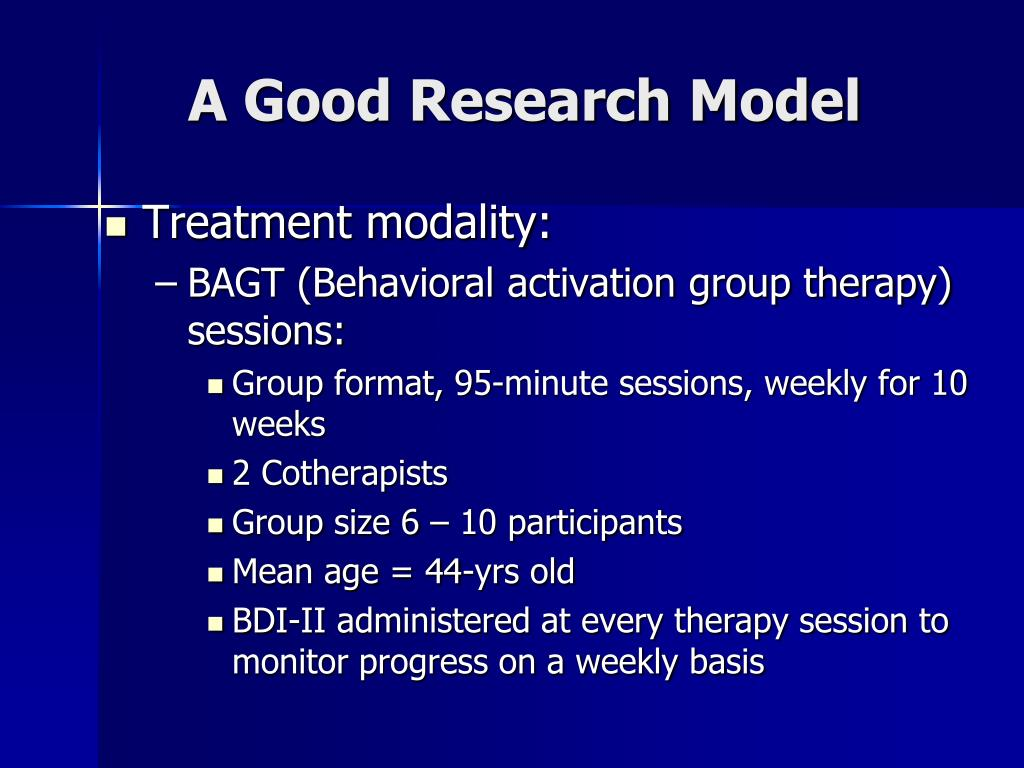 A Good Research Model