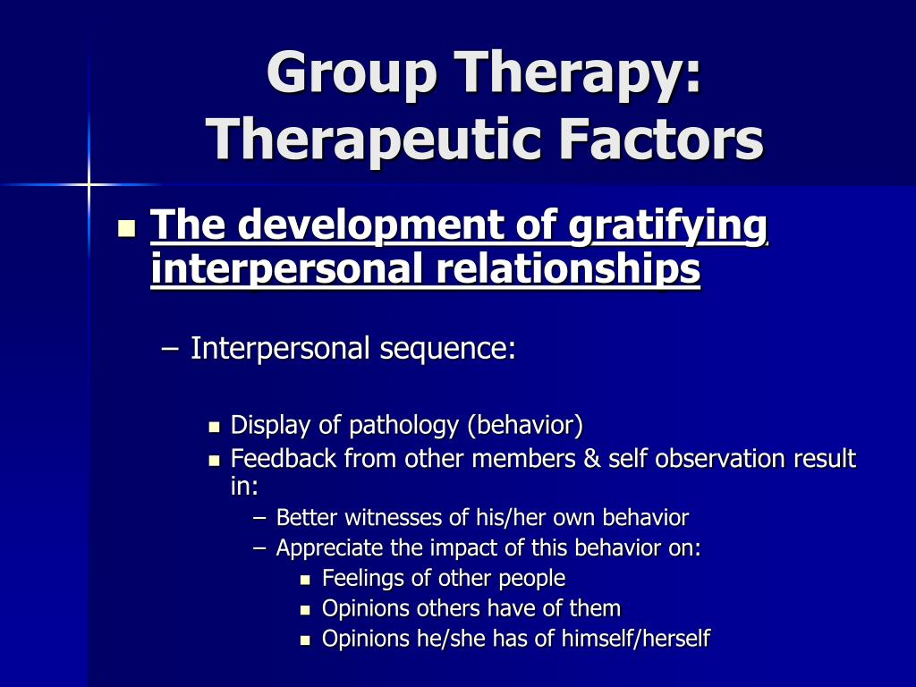 Group Therapy: