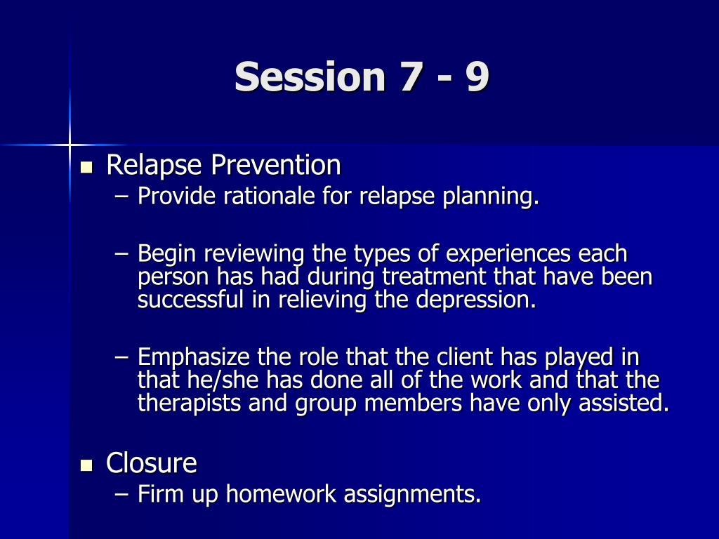 Session 7 - 9