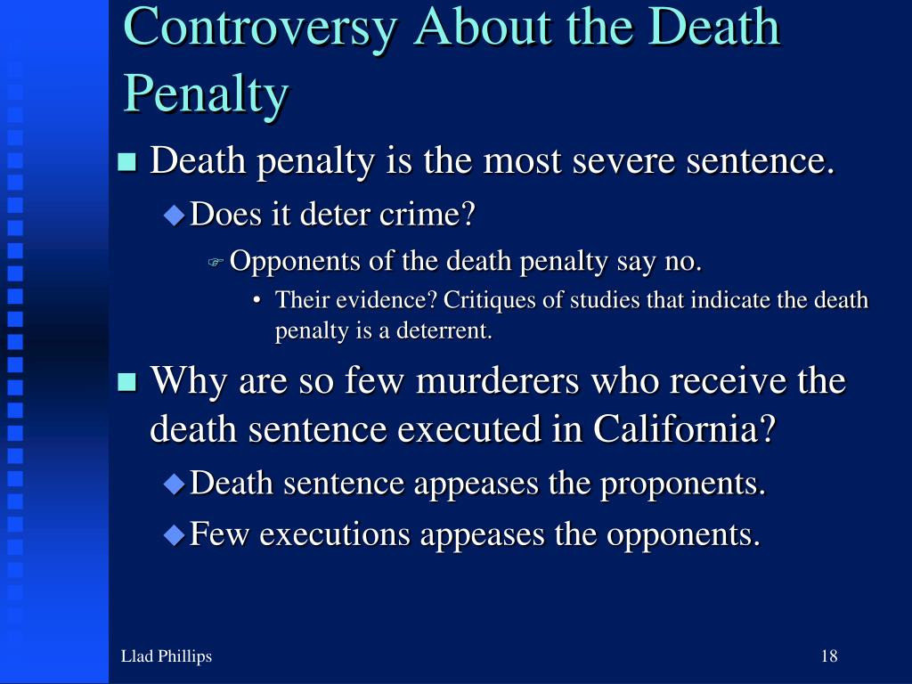 Controversy About the Death Penalty