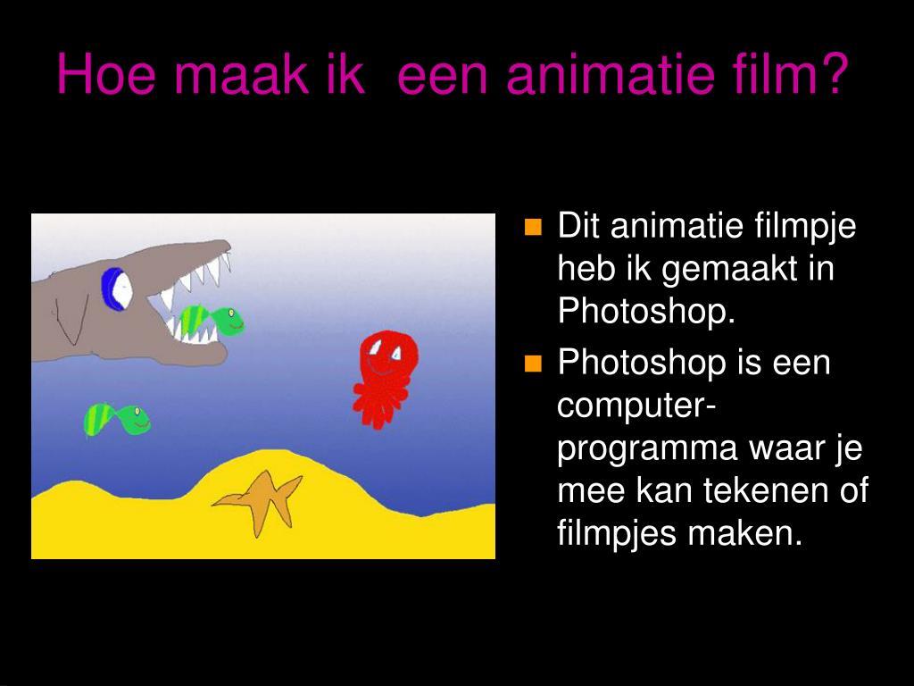 Ppt spreekbeurt animatiefilms powerpoint presentation for Computer tekenen programma