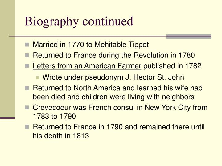 a biography of j hector st john de crevecoeur from america Discover librarian-selected research resources on j hector st john de crevecoeur  j hector st john  were published as sketches of eighteenth century america.