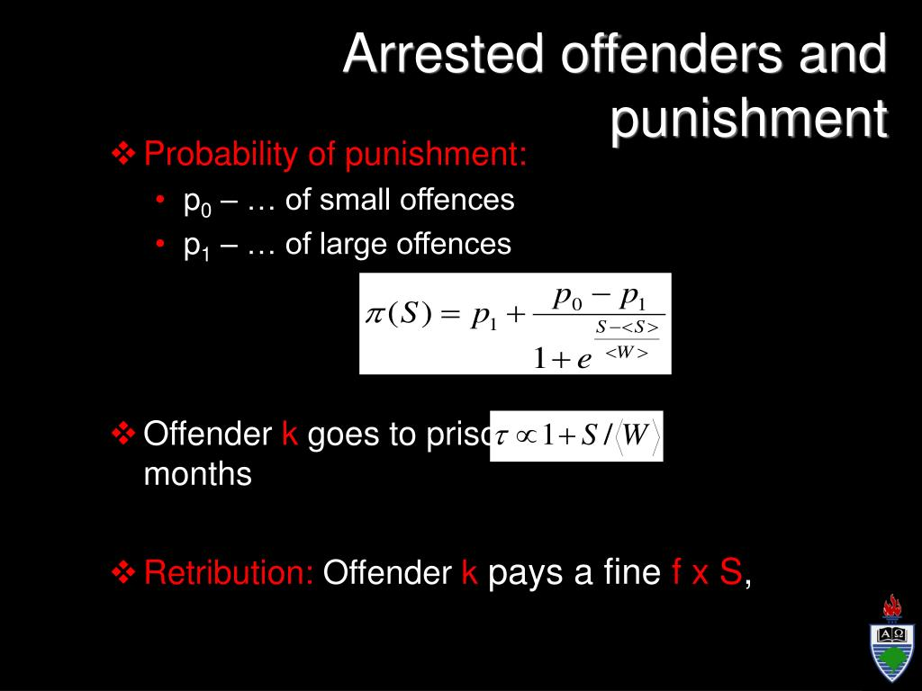 Arrested offenders and punishment