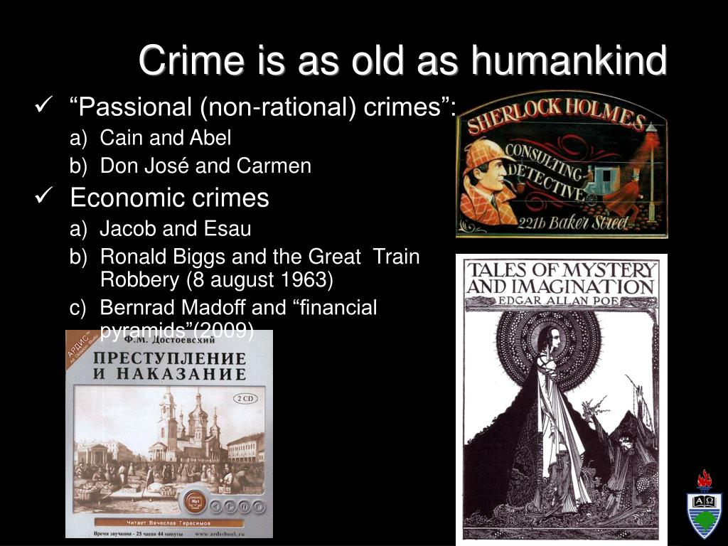 """Passional (non-rational) crimes"":"