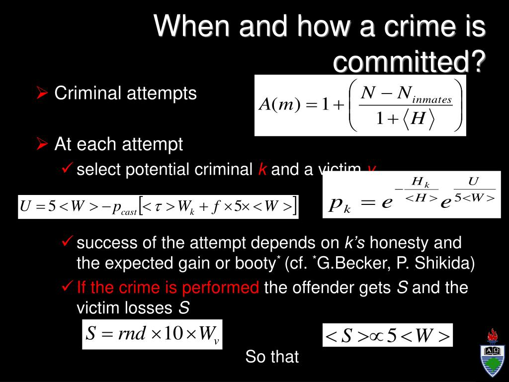 When and how a crime is committed?