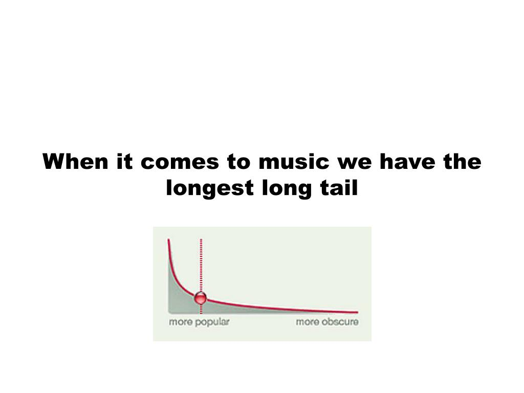 When it comes to music we have the longest long tail