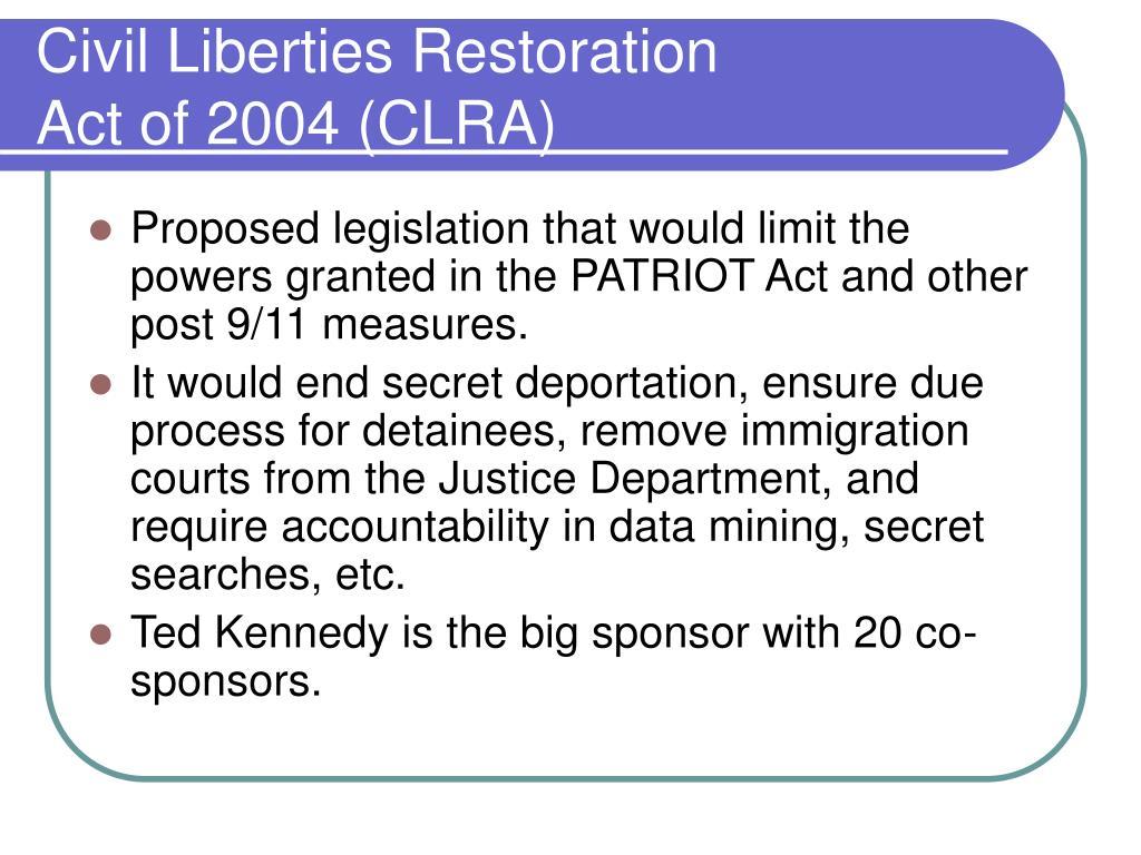 Civil Liberties Restoration