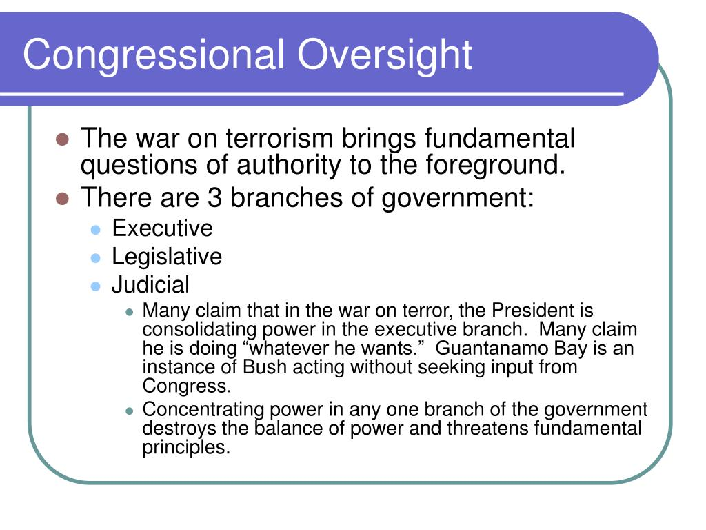Congressional Oversight