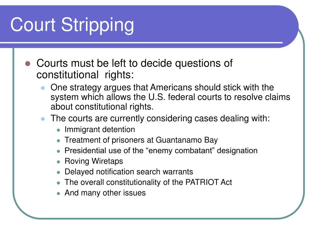 Court Stripping