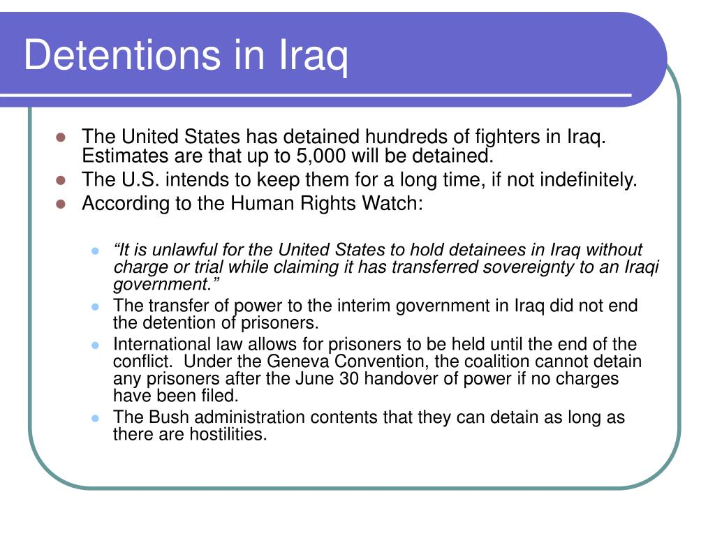 Detentions in Iraq