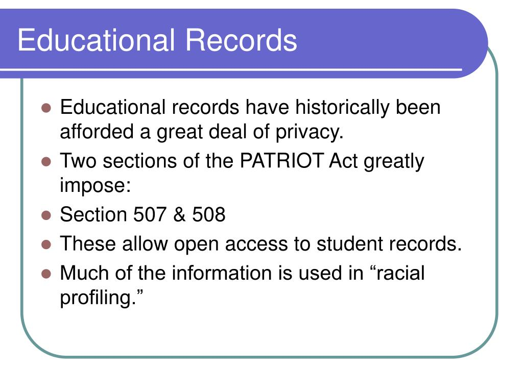 Educational Records