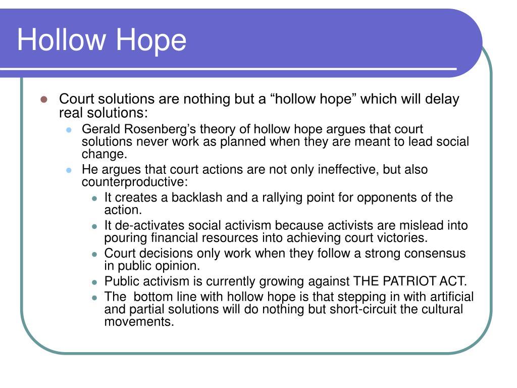 Hollow Hope
