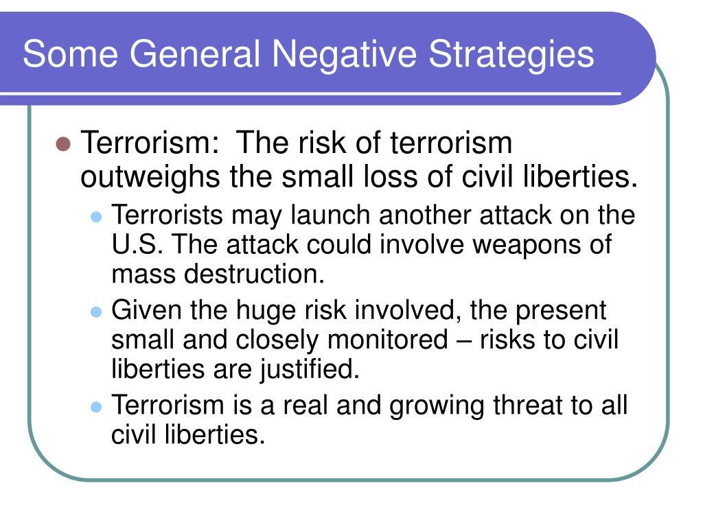 Some General Negative Strategies