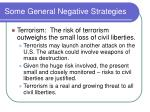 some general negative strategies