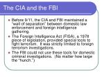 the cia and the fbi