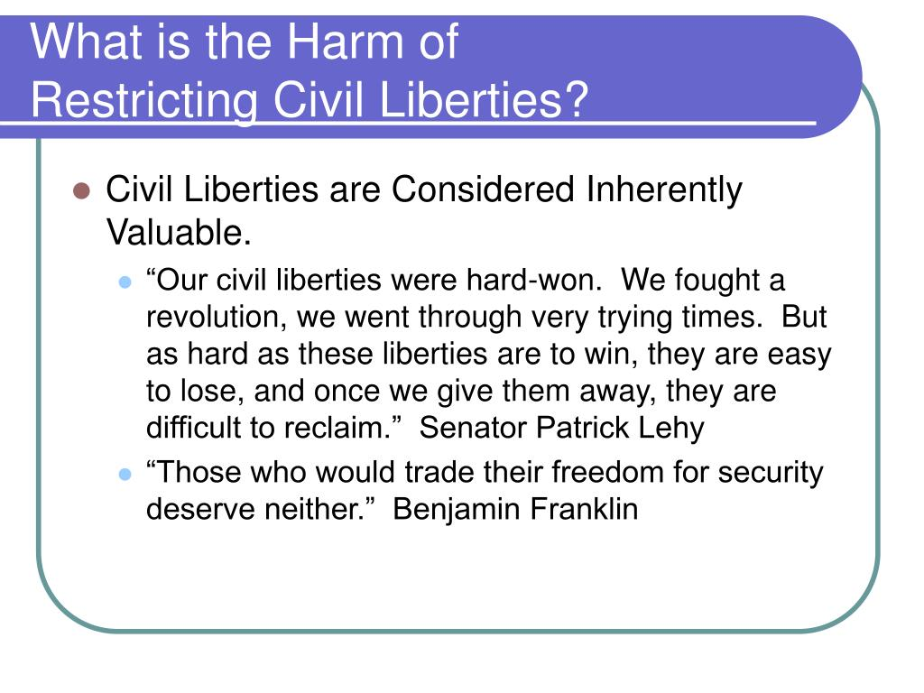 What is the Harm of