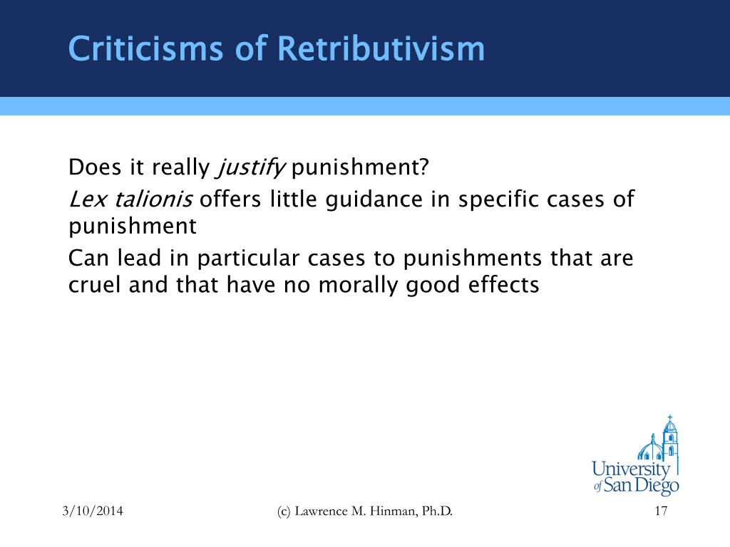 Criticisms of Retributivism