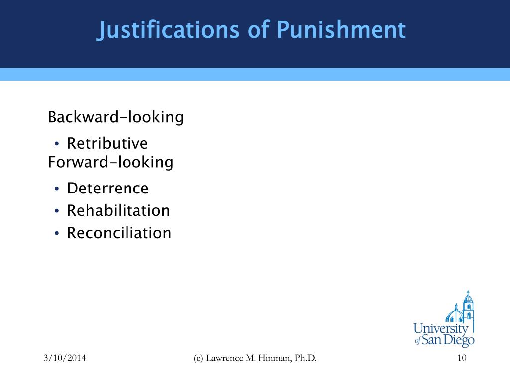 Justifications of Punishment