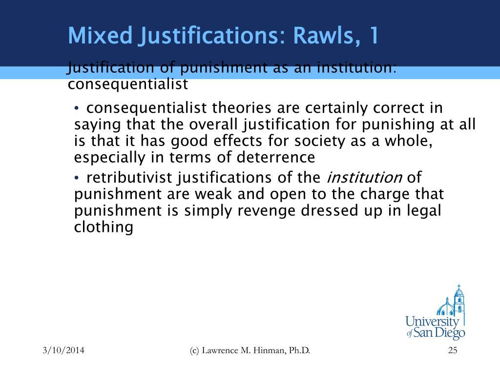 Mixed Justifications: Rawls, 1