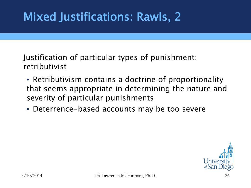 Mixed Justifications: Rawls, 2