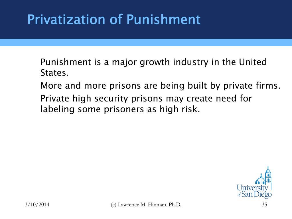 Privatization of Punishment