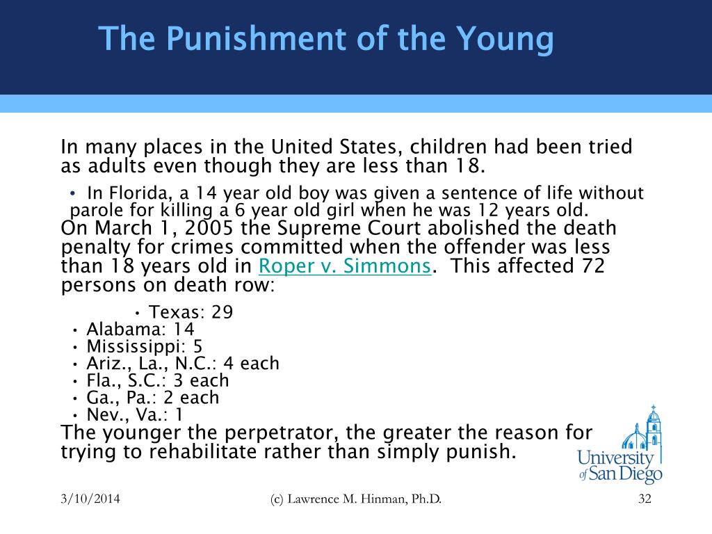The Punishment of the Young