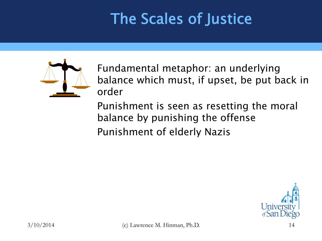 The Scales of Justice