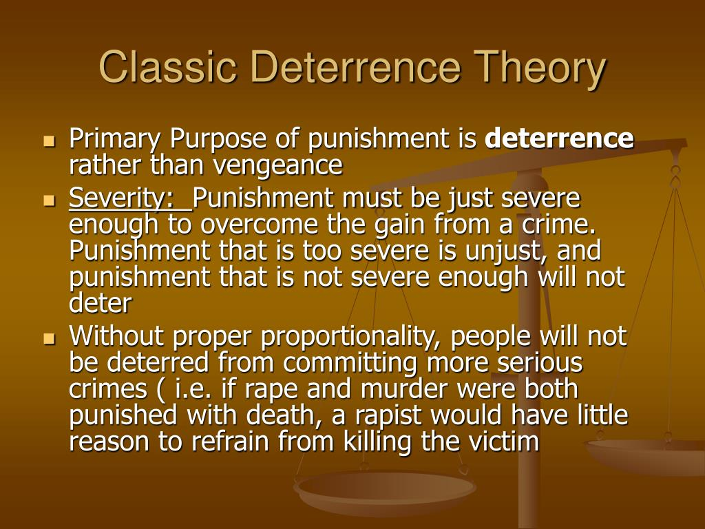 Classic Deterrence Theory