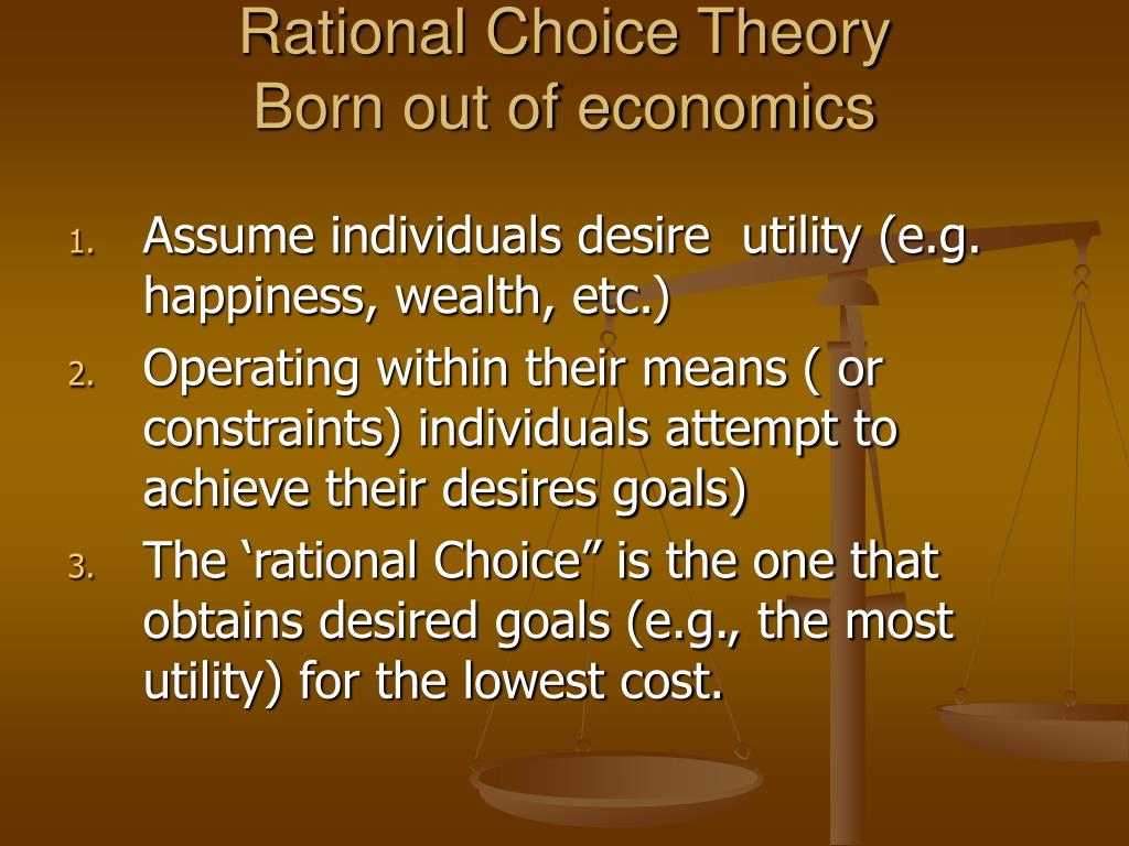 Rational Choice Theory
