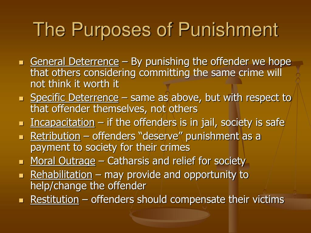 The Purposes of Punishment