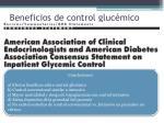 beneficios de control gluc mico